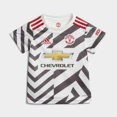 Barn Fotboll Vit Manchester United 20/21 Third Baby Kit
