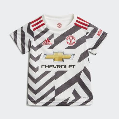 Terceiro Equipamento do Manchester United 20/21 para Bebé Branco Criança Futebol