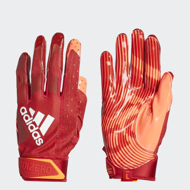 Football Red Adizero 9.0 Highlighter Receiver Gloves
