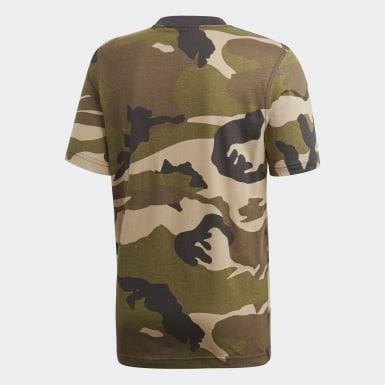 Erkek Originals Çok Renkli Camouflage Trefoil Tişört