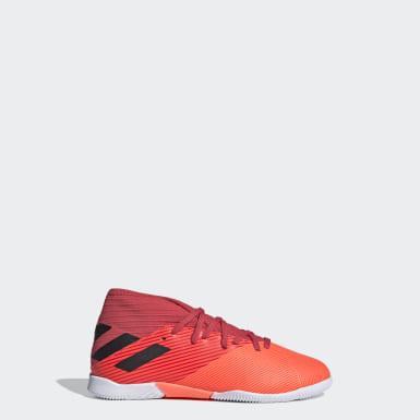 Children Soccer Orange Nemeziz 19.3 Indoor Shoes