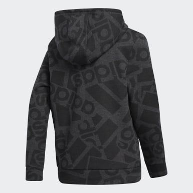 Youth Training Grey Badge of Sport Collage Hoodie