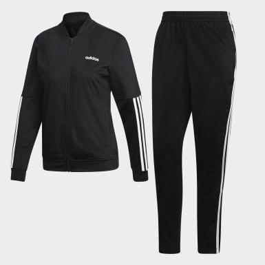 Women Training Black Back 2 Basics 3-Stripes Track Suit