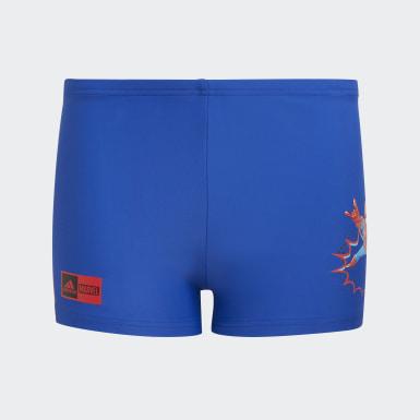 Boys Swimming Blue Marvel Superhero Swim Briefs