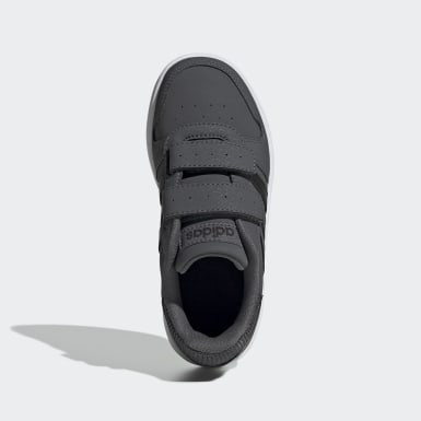 Children Sport Inspired Grey Hoops 2.0 Shoes