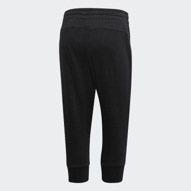 Ženy Athletics černá Kalhoty Essentials Linear 3/4