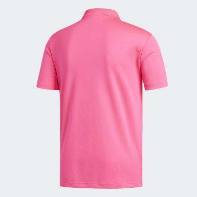Mænd Golf Pink Performance polotrøje