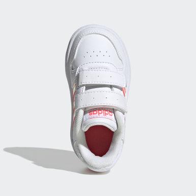 Scarpe Hoops 2.0 Bianco Bambini Basket