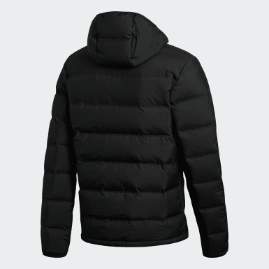 Men City Outdoor Black Helionic Hooded Down Jacket