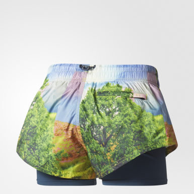 Shorts Run Floral Two-in-One Multicolor Mujer adidas by Stella McCartney