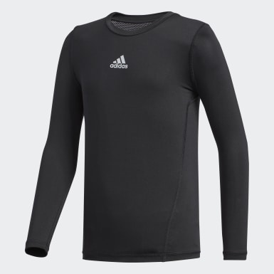 Youth Training Black Alphaskin Baselayer Top