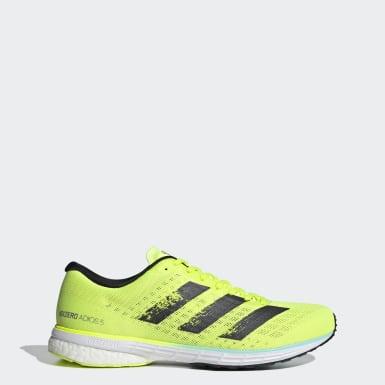 Men Running Yellow Adizero Adios 5 Shoes