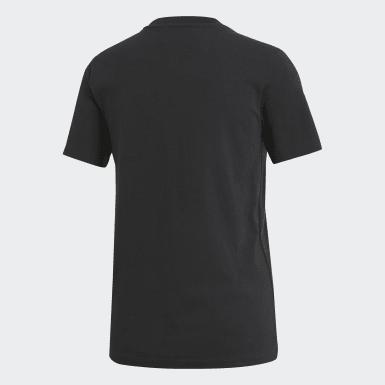 Camiseta Trefoil Negro Mujer Originals