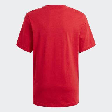 T-shirt Graphic Logo Print Rouge Enfants Originals