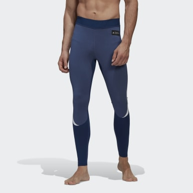 Heren Training blauw Primeknit Fine Legging