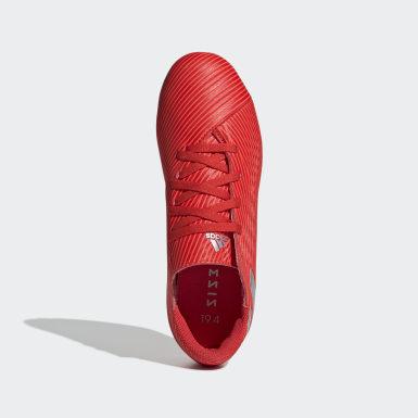 Calzado de Fútbol Nemeziz 19.4 Multiterreno Rojo Niño Fútbol
