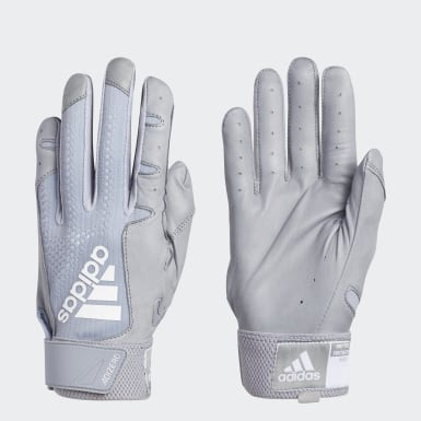 Baseball Grey Adizero 4.0 Batting Gloves