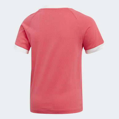 Remera 3 Tiras Rosa Niño Originals