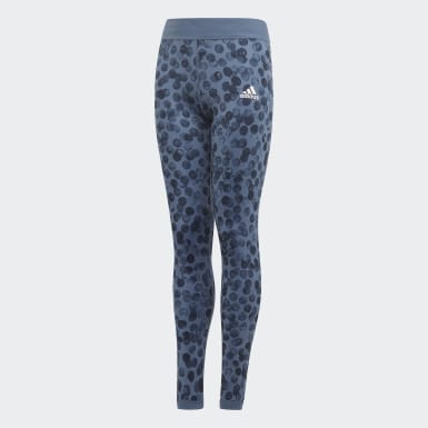 Mädchen Training YG TR REV TIGHT Blau