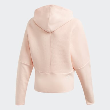 Hoodie adidas Z.N.E. Loose Full-Zip Rosa Ragazza Training