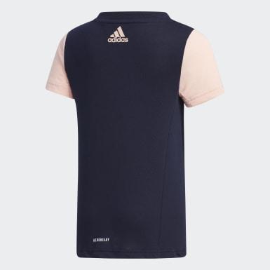 Mädchen Training Large Polyester T-Shirt Blau
