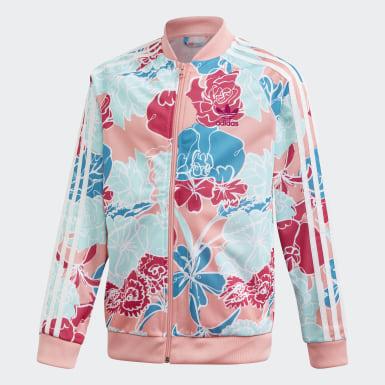 เด็ก Originals สีชมพู เสื้อแทรคแจ็คเก็ต SST