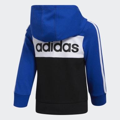 Sweat-shirt à capuche. bleu Enfants Entraînement
