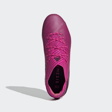 Børn Fodbold Pink Nemeziz 19.1 Firm Ground støvler