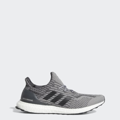 Men Running Grey Ultraboost 5.0 Uncaged DNA Shoes