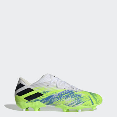 Football White Nemeziz 19.2 Firm Ground Boots