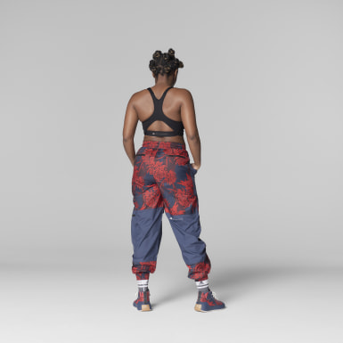 Women adidas by Stella McCartney Red adidas by Stella McCartney Future Playground Woven Pant