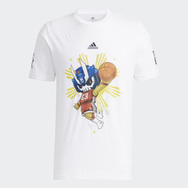 Men Basketball White Quiccs Basketball Tee