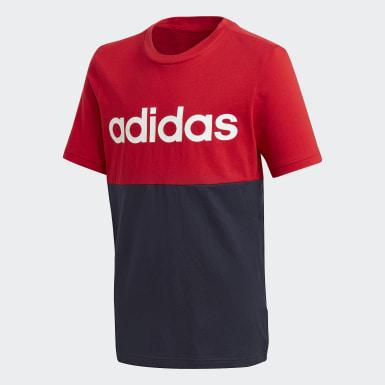 Genç Training Red Linear Colorblock Tişört