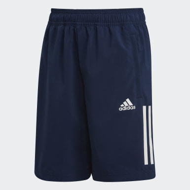 Boys Yoga Blue 3-Stripes Shorts