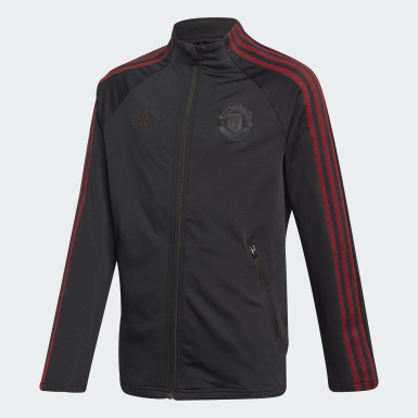 Kids Football Black Manchester United Anthem Jacket