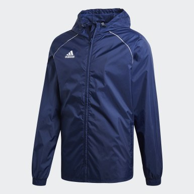 Männer Training Core 18 Regenjacke Blau