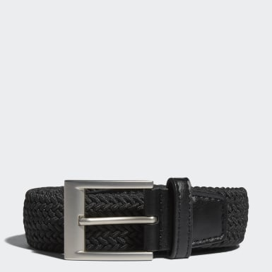 Men's Golf Black Braided Stretch Belt