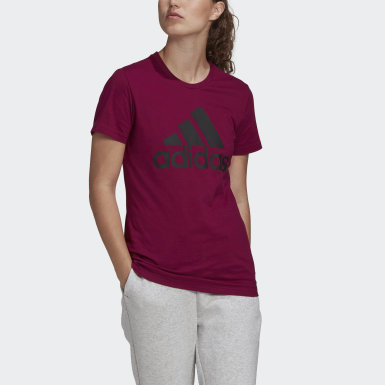 Women's Essentials Purple Must Haves Badge of Sport Tee