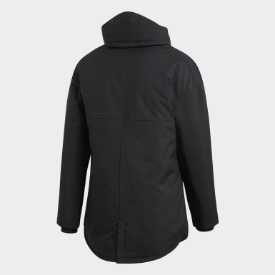 Men's Soccer Black Stadium 18 Parka