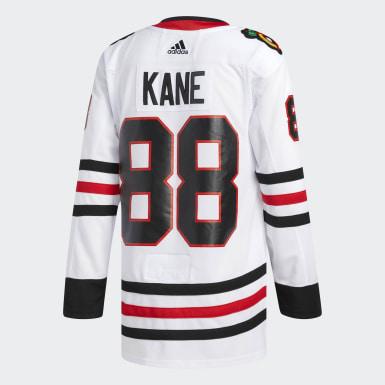 Men Hockey White Blackhawks Kane Away Authentic Pro Jersey