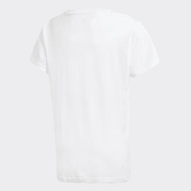 เด็ก Originals สีขาว เสื้อยืดพิมพ์ลาย
