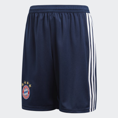 Shorts Uniforme Local FC Bayern Azul Niño Fútbol