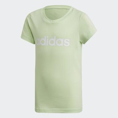 Dívky Trénink zelená Tričko Essentials Linear