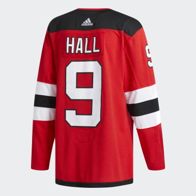 Men Hockey Red DEVILS HALL AUTHENTIC PRO JERSEY