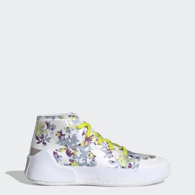 Women's adidas by Stella McCartney White adidas by Stella McCartney Treino Mid-Cut Print Shoes