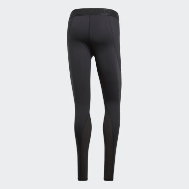 Mallas Alphaskin Sport Long - Corte Bajo Negro Hombre Training