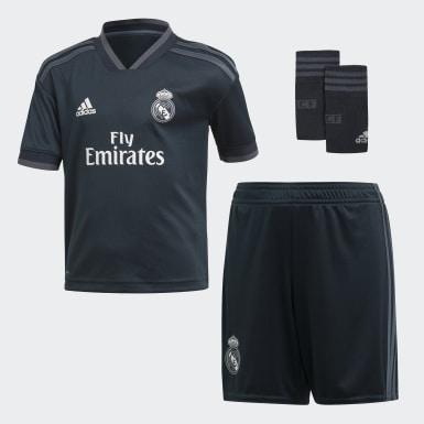 Deti Futbal Siva Súprava Real Madrid Away Mini