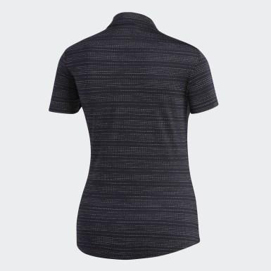 Dames Golf Zwart Microdot Poloshirt