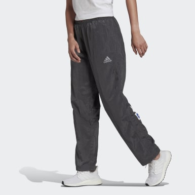 Pants Rectos adidas Sportswear Relaxed Gris Mujer Athletics