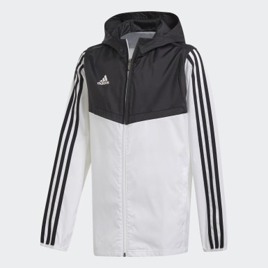 Children Soccer White Tiro Windbreaker